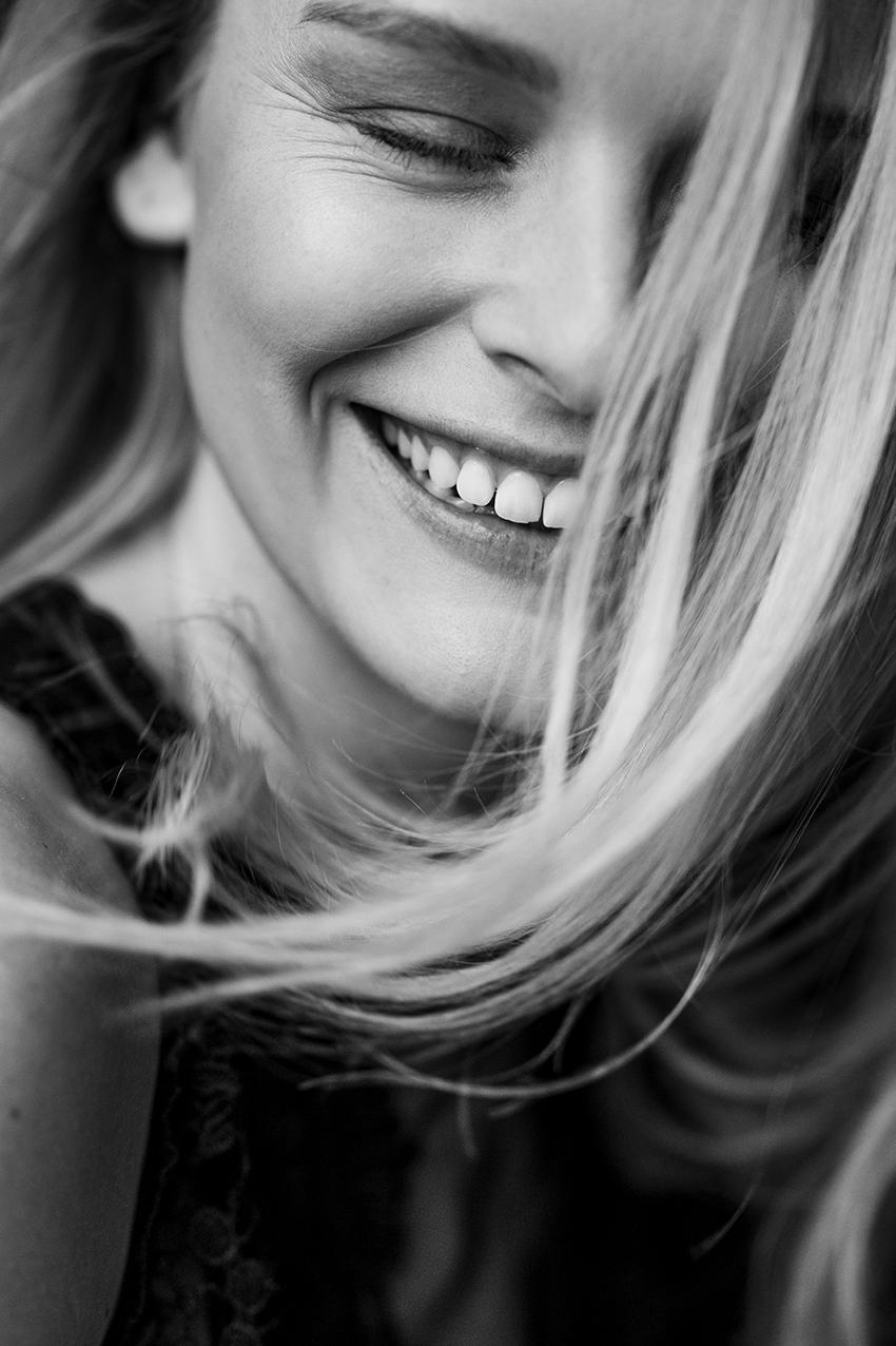 schwarzweiss Portrait einer Frau
